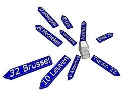 Afstand tot grote steden, Brussel, Tienen, Zoutleeuw, Leuven