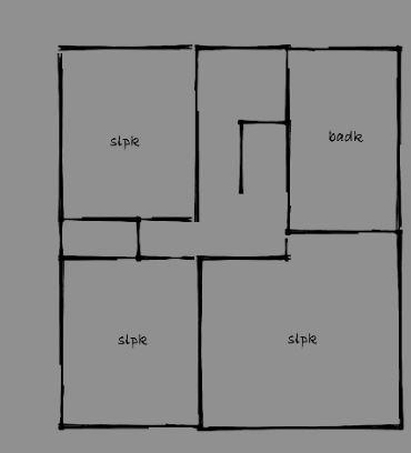 Verdieping 3 slaapkamers, toilet en badkamer.